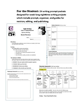 Night Writing Bundle for Grades 4-5