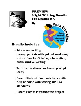 Night Writing Bundle for Grades 2-3