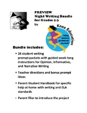 Night Writing Bundle for Grades 2-3