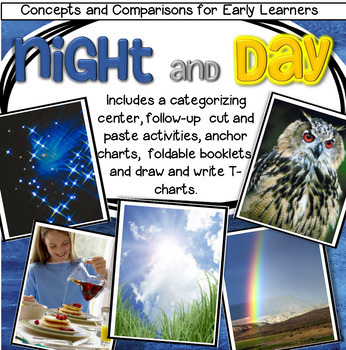Day and Night Center and Printables for Preschool, Pre-K and Kindergarten