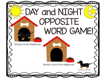 "Day and Night ""Opposite Words"" (Antonyms Word Game)"