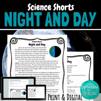 Night and Day Reading Comprehension Passage