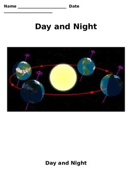 Night and Day Study Guide/Notes 4th Grade Science