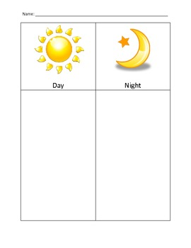 Night and Day picture organizer and picture cards
