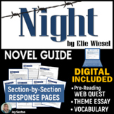 NIGHT by Elie Wiesel - Novel Guide with Common Core Theme Essay