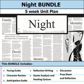 Night by Elie Wiesel Unit Bundle