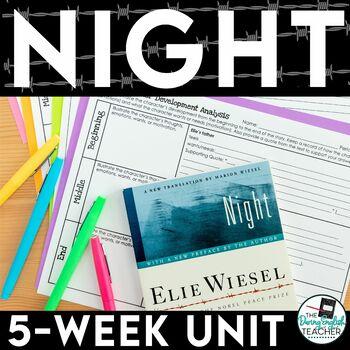 Night by Elie Wiesel -  Activities Bundle