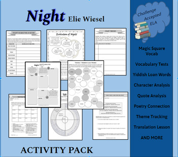 Night by Elie Wiesel Activity Pack (Exam NOT Included)