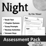 """""""Night"""" by Elie Wiesel Assessment Pack"""