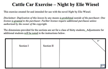 Night by Elie Wiesel - Cattle Car Exercise