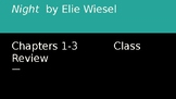 Night by Elie Wiesel: Chapter 1 Discussion Questions