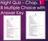Night by Elie Wiesel - Chapter 1 Quiz Multiple Choice with