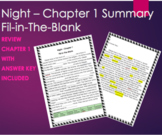 Night by Elie Wiesel Chapter 1 Summary Fill-in-The-Blank R