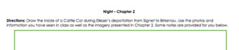 Night by Elie Wiesel - Chapter 2 Drawing Activity
