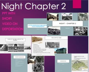 Night by Elie Wiesel Chapter 2 PPT with Video Clip on Deportation