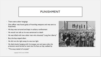 Night by Elie Wiesel - Chapter 4 PPT Summary with Video on Nazi's and Gold