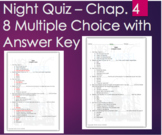 Night by Elie Wiesel - Chapter 4 Quiz Multiple Choice with