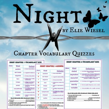 Night by Elie Wiesel Chapter Vocabulary Quizzes