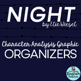 Night by Elie Wiesel Character Analysis Graphic Organizers