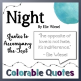 Night by Elie Wiesel - Colorable Companion Quotes