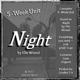 NIGHT:  Unit Plan, Novel Guide, Lessons, Activities, Assessments - Digital