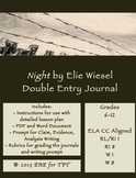 Night by Elie Wiesel Double Entry Journal Plans, Templates, Rubrics, and more!