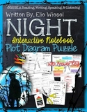 NIGHT, BY ELIE WIESEL: INTERACTIVE NOTEBOOK PLOT DIAGRAM PUZZLE