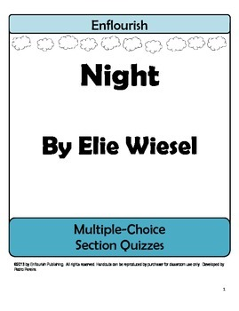 Night by Elie Wiesel Multiple Choice Chapter Quizzes