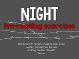 Night by Elie Wiesel: Pre Reading Activities