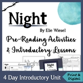 Night by Elie Wiesel - Pre-Reading Lessons & Activities *
