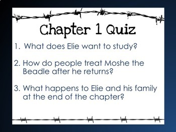 Night by Elie Wiesel Quick Chapter Quizzes