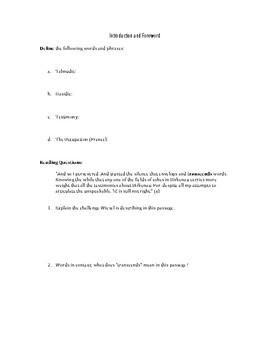 Night by Elie Wiesel - Reading Guide