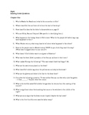 Night by Elie Wiesel Reading Guide Questions