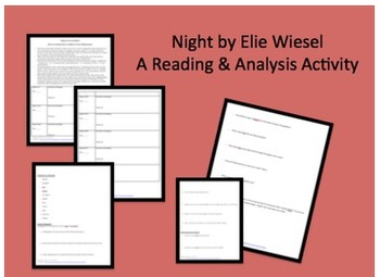 Night by Elie Wiesel Reading Guide and Response Prompts Holocaust Packet