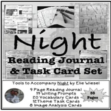 Night by Elie Wiesel Reading Journal & Task Card Activity