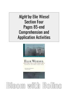 Night by Elie Wiesel Section Four: Comprehension and Application Activities