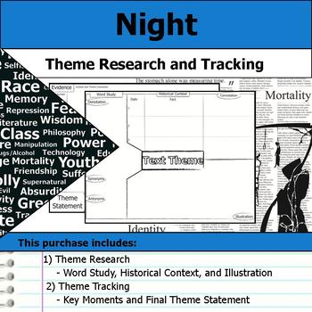 Night by Elie Wiesel - Theme Tracking Notes Etymology & Context Research