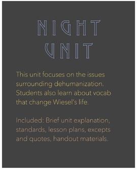 Night by Elie Wiesel - Unit Plan