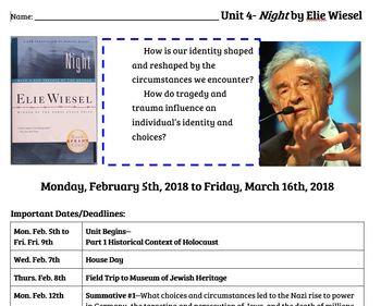 Night by Elie Wiesel, Slides & Handouts