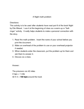 Night math problem