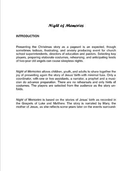 Night of Memories - A no fuss Christmas Pageant