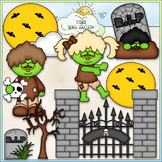 Night of The Zombies Clip Art - Halloween Clip Art - CU Cl