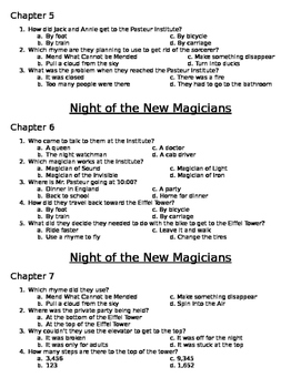 Night of the New Magicians Comprehension Questions