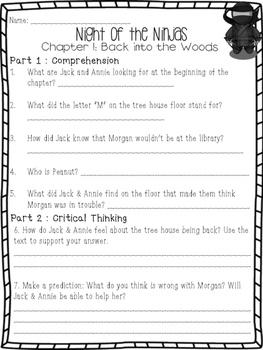 NIGHT OF THE NINJAS: Magic Tree House #5 Book Companion