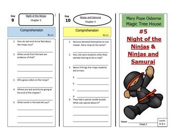 Night of the Ninjas & Ninjas and Samurai-A Paired Reading, Magic Tree House