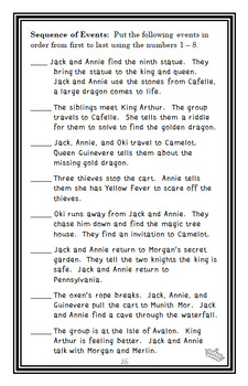 Night of the Ninth Dragon : Magic Tree House #55 (Mary Pope Osborne) Novel Study