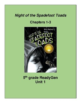 Night of the Spadefoot Toads Ch. 1-3 Scavenger Hunt, 5th grade ReadyGen Unit 1