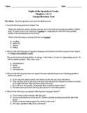 Night of the Spadefoot Toads Ch 10-15 Comprehension Test Standardized Test Style