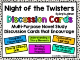 Night of the Twisters Discussion Cards PLUS Extension Activities
