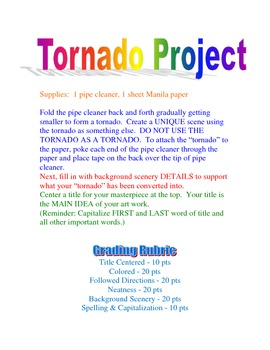 Night of the Twisters-Ivy Ruckman/ Intro art activity and Ch 1 writing activity
